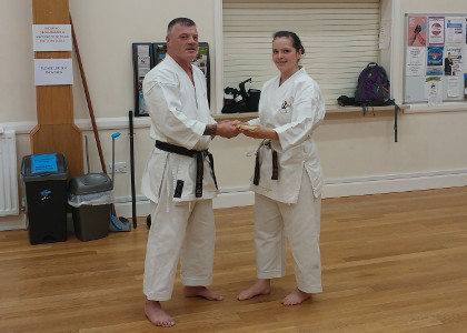 Sensei Laura 4th Dan